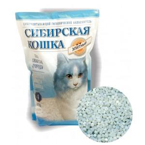 """Наполнитель """"Сибирская кошка"""" ЭЛИТА силикагель, 4л"""
