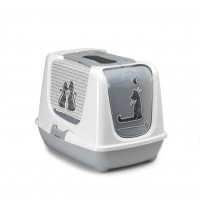 Био-туалет Moderna Cats in Love, с совком, серый