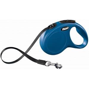 flexi рулетка New Classic XS (до 12 кг) 3 м лента синяя