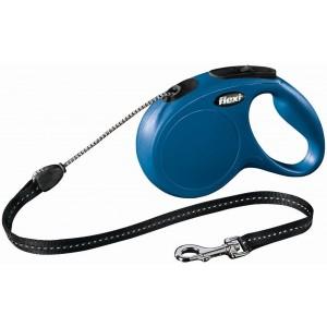flexi рулетка New Classic M (до 20 кг) 8 м трос синяя