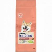 DOG CHOW для собак с чувствительным пищеварением с лососем и рисом