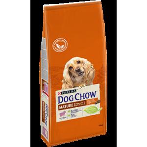 Сухой корм Purina Dog Chow Mature Adult для собак старше 5 лет, ягнёнок, пакет, 14 кг