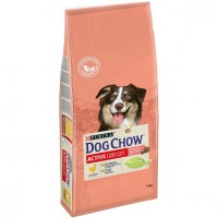 DOG CHOW для активных собак, с курицей, 14кг