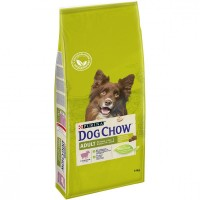 DOG CHOW для собак, с ягненком и рисом, 14кг