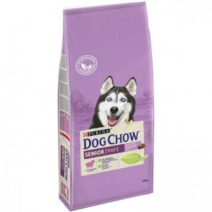Сухой корм Purina Dog Chow Senior для собак старше 9 лет, ягнёнок, пакет, 14 кг