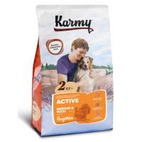 Karmy для активных собак средних и крупных пород, индейка с рисом