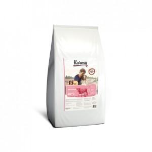 Karmy DELICIOUS. Полнорационный сухой корм для собак старше 1 года привередливых в питании, 15 кг