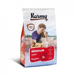 Сухой корм Karmy ADULT для взрослых собак средних пород старше 1 года - индейка. вес: 15 кг