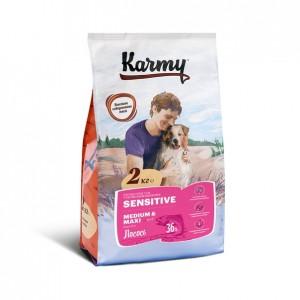 Гипоаллергенный сухой корм для собак средних и крупных пород, Лосось с рисом