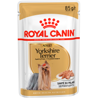 Royal Canin Yorkshire Terrier Adult (паштет) корм для собак породы йоркширский терьер в возрасте с 10 месяцев, 85г