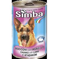 Консервы Simba для собак, кусочки ягнёнка, 1230г