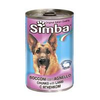Консервы Simba для собак, кусочки ягнёнка, 415г