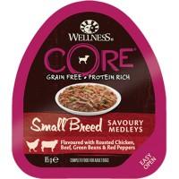 Консервы CORE для мелких собак,  из курицы с говядиной, зеленой фасолью и красным перцем для собак, 85 г