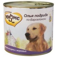 Консервы Мнямс для собак мясное ассорти с морковью. 600 г