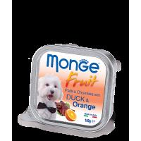Консервы Monge Fruit для собак утка с апельсином 100 г