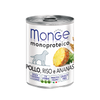 Паштет Monge Monoproteico для собак, из курицы с рисом и ананасами 400 г