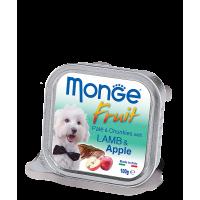 Консервы Monge Fruit для собак ягненок с яблоком 100 г