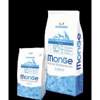Monge низкокалорийный корм для собак, лосось с рисом