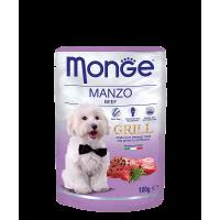 Пауч Monge Grill для собак говядина 100 г