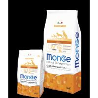 Monge для собак, утка с рисом и картофелем