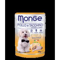 Пауч Monge Grill для собак курица с индейкой 100 г