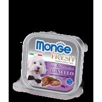 Консервы Monge Fresh для собак ягненок 100 г