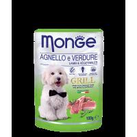 Пауч Monge Grill для собак ягненок с овощами 100 г