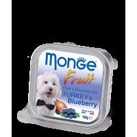 Консервы Monge Fruit для собак индейка с черникой 100 г