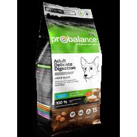 ProBalance для собак с чувствительным пищеварением,с лососем и рисом, 15 кг