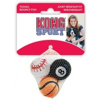 """Игрушка KONG для собак Air Sport """"Теннисный мяч"""" очень маленький (в упаковке 3 шт) 4 см без пищалки"""