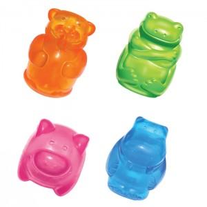 Kong игрушка для собак Сквиз Джелс 10 см большая в ассортименте (бобер, бегемот, свинка, лягушка)
