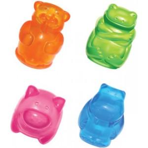KONG игрушка для собак Сквиз Джелс 8 смсредняя в ассортименте (бобер,бегемот, свинка, лягушка)