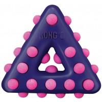 Игрушка KONG для собак Dotz треугольник большой 17 см
