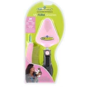 """FURminator для котенка набор """"Мой первый грумер"""" сликер+расческа My FURst Groomer"""