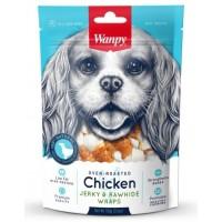 Wanpy для собак кости из сыромятной кожи с куриным мясом