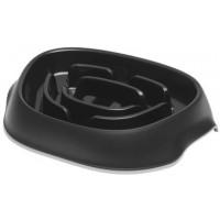 Миска Moderna Slomo для медленного поедания, 950 мл, чёрный
