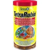Корм TetraRubin в хлопьях для улучшения окраса всех видов рыб, 1 л