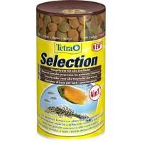 """Корм TetraSelection для всех видов рыб """"4 вида"""" хлопья/чипсы/гранулы, 250 мл"""