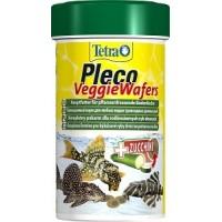 TetraPleco Veggie Wafers корм-пластинки с цуккини для донных рыб, 100 мл